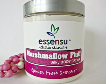 Marshmallow Fluff Silky Rich Body Cream with Vegan Silk Protein and Soya Butter | Absorbs Quickly | Luxury | No Parabens , Phthalates - 8 oz