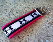 Under Armour Inspired on Pink Key Fob Wristlet
