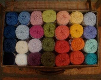 Organic Cotton Bamboo Knitting Yarn- 10 skeins