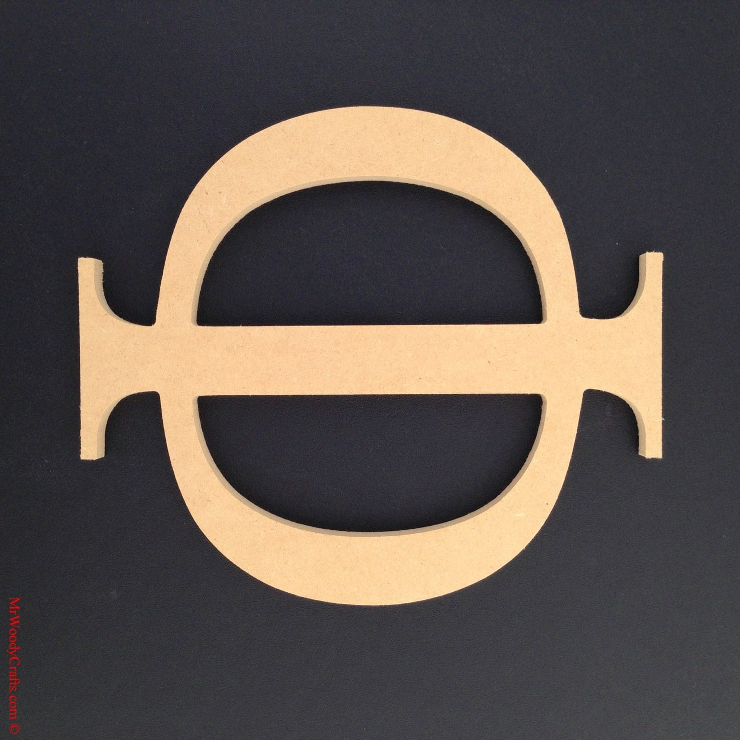 24 Inch Unfinished Wooden Greek Letters Wood by MrWoodyCrafts
