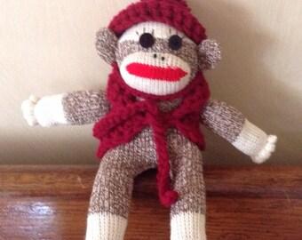 Mini Monkey Sock doll