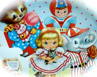 Vintage 1950s Kitsch Adorable  Unused Happy Birthday Cards Original Box
