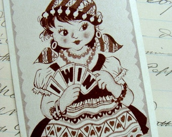 Vintage Gypsy cards for Altered art Lot of 5