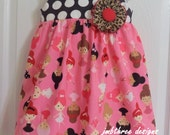 SAMPLE SALE Ballerina Leopard Dress  size  2t   Ready to ship