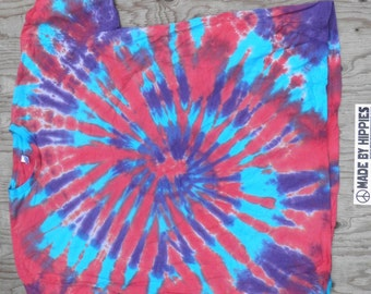 Festival Style Spiral Tie Dye T-Shirt (American Apparel Organic Cotton Size 3XL) (One of a Kind)