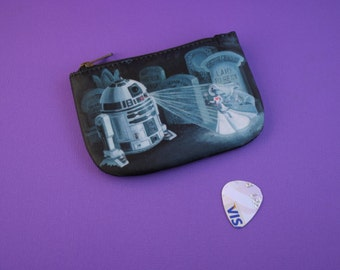 R2-D2 Lost Graveyard Coin Purse - Star Wars Meets Haunted Mansion Tribute