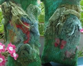 Pair of Nuno Felted Eyeglass Cases by special request; 1 Reading; 1 Sunglasses