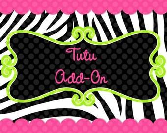 Add a custom tutu to my shirt or bodysuit order