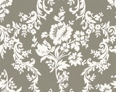 Taupe Gray Damask Fabric - Riley Blake - Lost and Found