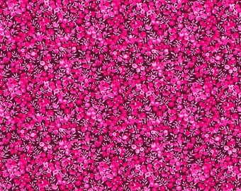 Liberty Fabric Wilmslow Berry C Tana Lawn One Yard Bright Pink
