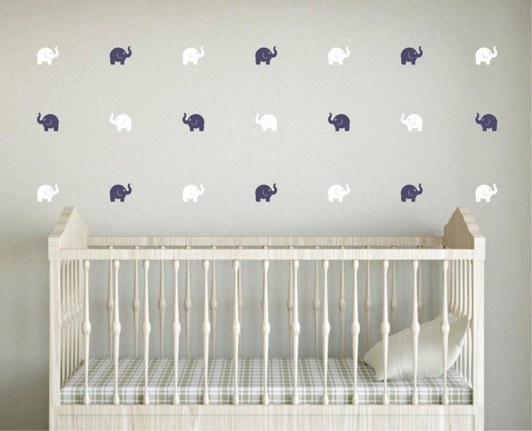 Elephant wall decal mini size decal elephant nursery vinyl for Stickers habitacion bebe