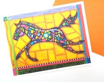 Horse Note Card, blank, original design illustration