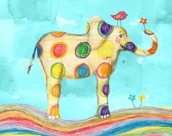 The Rainbow Elephant