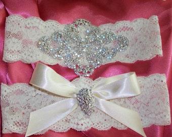 Sale Rhinestone Garter, Rhinestone Garter Set,Lace Garter,Bridal Garter,Garter,Plus Size Garter,Wedding,Bridal Accessories,Heirloom Garter
