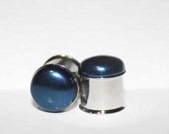 Classic Deep Blue Pearl Plugs 10mm 11mm 12mm 13mm