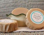 Shaving Soap Laurel Bay handmade Cold-Process Round Bar