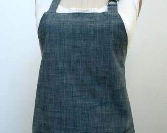 Indigo Chambray Red Bird Chef's Apron-Fully Lined