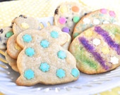 Easter Sugar Cookies - Two dozen bunny and Easter egg sugar cookies of your choice