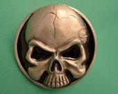 Vintage New Old Stock Skull Belt Buckle