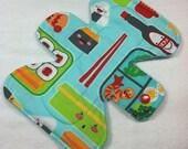 "Sushi Bento Box  - 7.5"" inch - 2L - Reusable Cloth Pad"