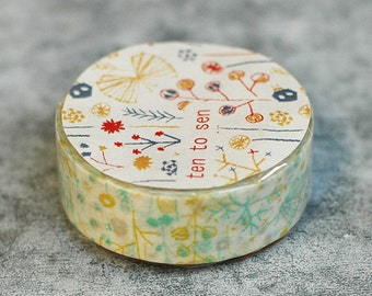 ten to sen - washi tape - shigemi bush - 15m x 10m