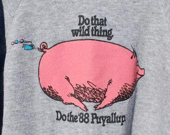 Vintage 80's Funky Pig Sweatshirt
