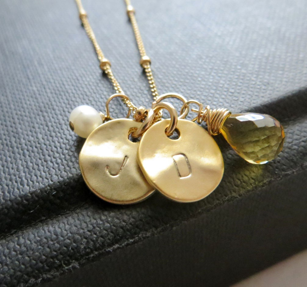 mom of twins jewelry mommy necklace two initial necklace