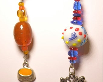 SALE 20% OFF --- Choice of Key Rings -- Cat or Butterfly