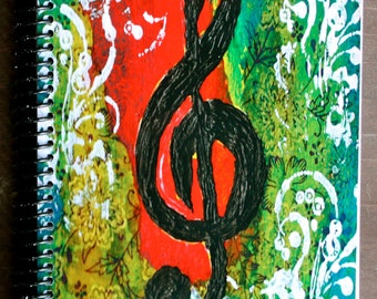 "Create Music 5.5""x8.5"" Lined Paper Coil Bound Notebook, Lined Paper Journal, Wholesale Notebooks, Stationery"