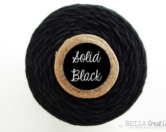 Sale - Solid Black Bakers Twine by Timeless Twine