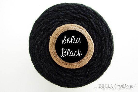 Solid Black Bakers Twine by Timeless Twine