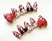 Stiletto nail, red nails, pointy nail, party nail,  3D nails, fake nail, zebra print, bows, decoden, red, gyaru, Harajuku, bling, nail decal