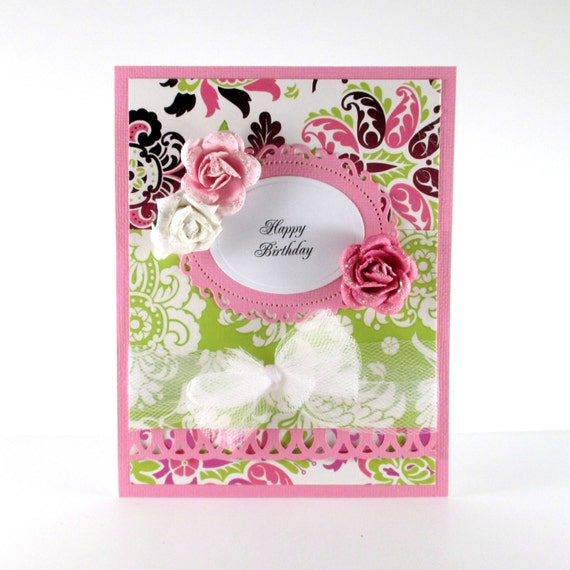 Elegant Birthday Card Happy Birthday Card By