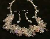 Spring Garland Necklace and Earrings Set