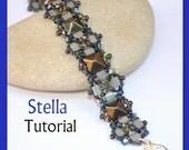 Stella Pyramid beads Beadwork Bracelet PDF Tutorial