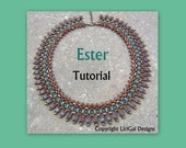 Ester SuperDuo&Tile Necklace Tutorial PDF