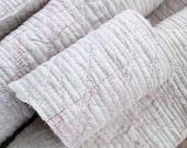 Reserve Zee Custom Mat Set Art Textile Primitive Quilt White Lending Pink Six Piece One Of A Kind Find