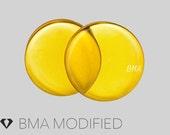 """7/16"""" (11mm) Honey Yellow Glass Plugs"""