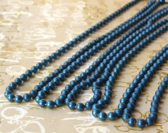 Ball chain necklaces blue - 9