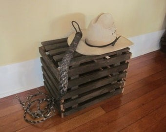 "Salvaged Slatted Wood ""Rustlers"" Crate"