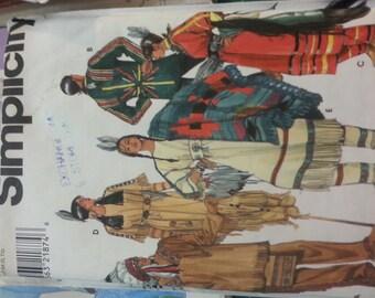 Native American Costume Wardrobe Multi Size Simplicity 8281