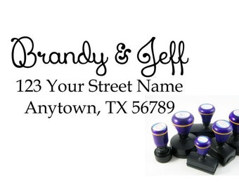 Personalized Self Inking Return Address Stamp - self inking address stamp - Custom Rubber Stamp R169