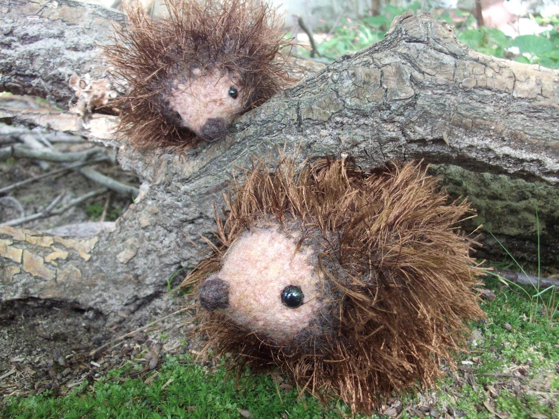 Hedgehog Mama And Baby Plush Toys Hedgehog Toys Hand Knit