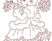 Hand Embroidery Quilt PATTERN 12 Dolls of the month taken from 1950s Workbasket