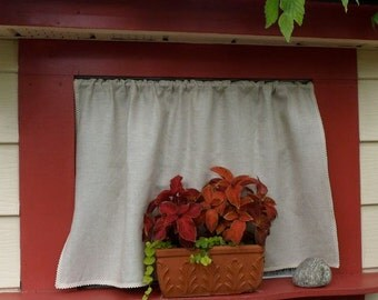 Natural Linen Curtain Panel