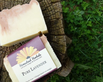 Pure Lavender Soap / Made with organic botanicals / Natural Soap / Handmade Soap
