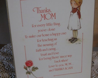 Vintage Holly Hobbie Mothers Day Plaque