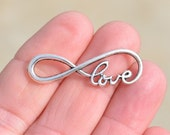 5  Silver  39mm Infinity Love Connector Charms SC3564
