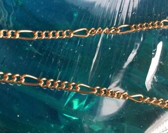 Gold Plated Figaro Chain / Bracelet BONUS