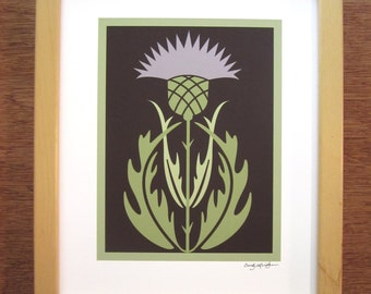 Arts and Crafts Style Thistle Art Print